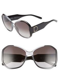 Salvatore Ferragamo Gancio 61mm Butterfly Sunglasses