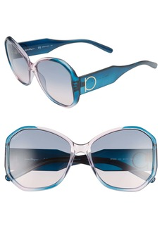 Salvatore Ferragamo Gancio 61mm Butterfly Sunglasses