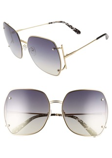 Salvatore Ferragamo Gancio 62mm Gradient Square Sunglasses