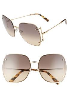 Salvatore Ferragamo Gancio 62mm Gradient Square Sunglasses