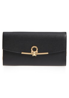 Salvatore Ferragamo Gancio Calfskin Leather Clutch