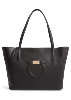 Salvatore Ferragamo Gancio City Leather Tote