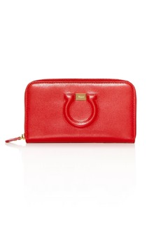 Salvatore Ferragamo Gancio City Zip Around Calfskin Wallet