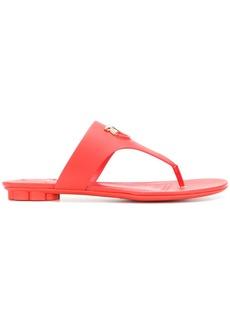 Salvatore Ferragamo Gancio-embellished sandals - Red