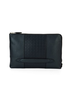 Ferragamo Gancio-Embossed Leather Portfolio