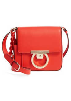 Salvatore Ferragamo Gancio Lock Leather Crossbody Bag