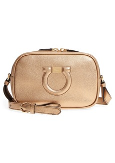 Salvatore Ferragamo Gancio Metallic Leather Camera Bag