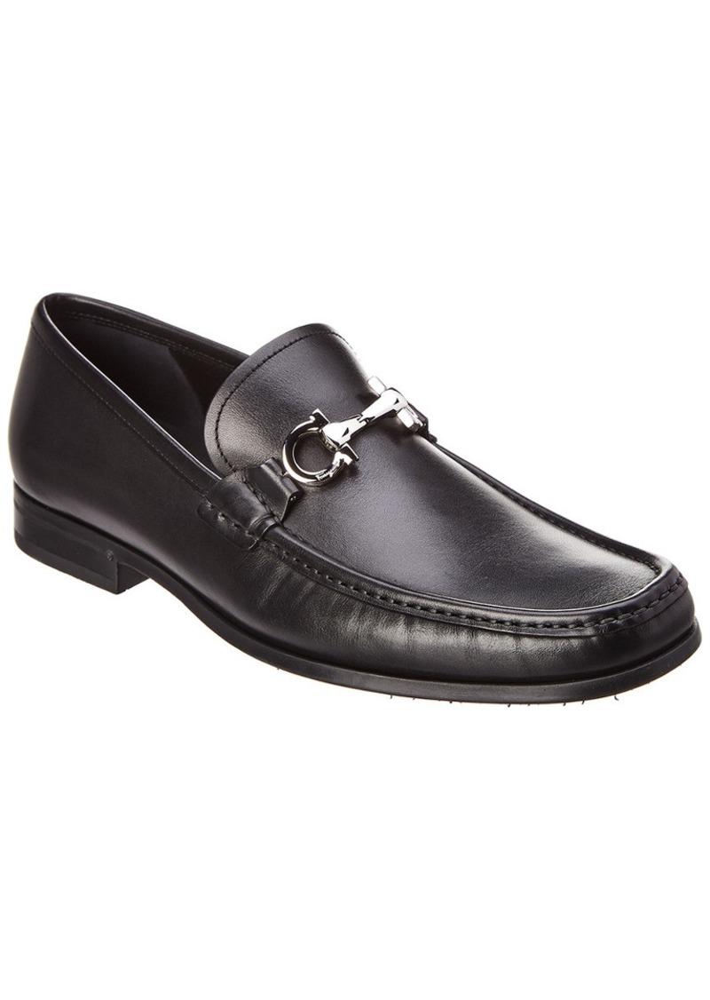 Salvatore Ferragamo Gancio Reversible Bit Leather Moccasin
