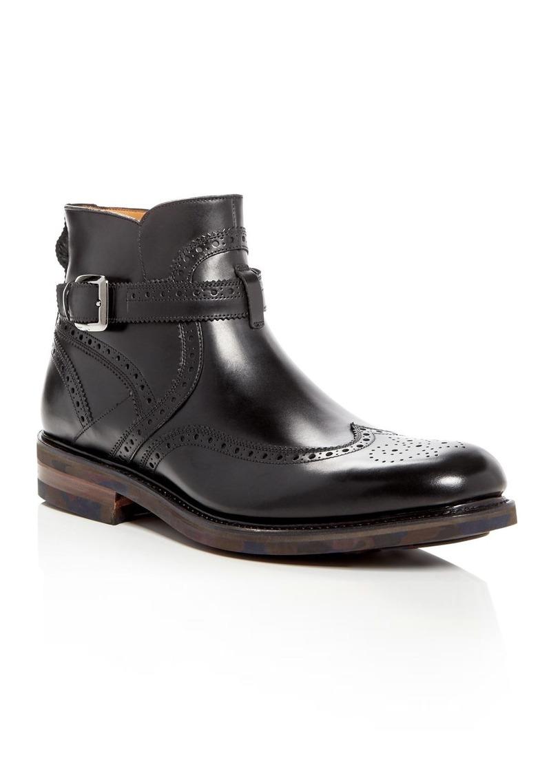 Salvatore Ferragamo Gaston Brogue Wingtip Boots