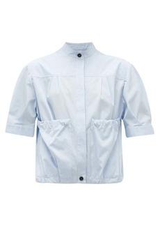 Salvatore Ferragamo Gathered-pocket cotton-poplin shirt