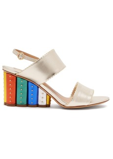 Salvatore Ferragamo Gavi rainbow-heeled wedge sandals