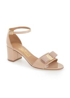 Salvatore Ferragamo Gavina Block Heel Bow Sandal (Women)