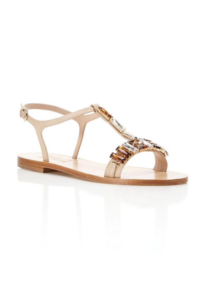 Salvatore Ferragamo Gelso T-Strap Sandals