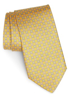Salvatore Ferragamo Genzian Print Silk Tie