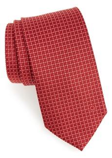 Salvatore Ferragamo Geometric Jacquard Silk Tie