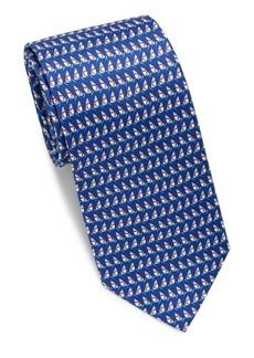 Ferragamo Geometric Print Silk Tie