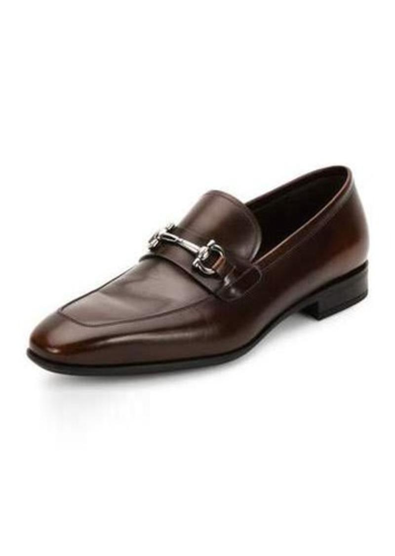 Ferragamo Side Mens Blue Shoes