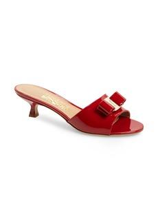 Salvatore Ferragamo Ginostra Bow Slide Sandal (Women)