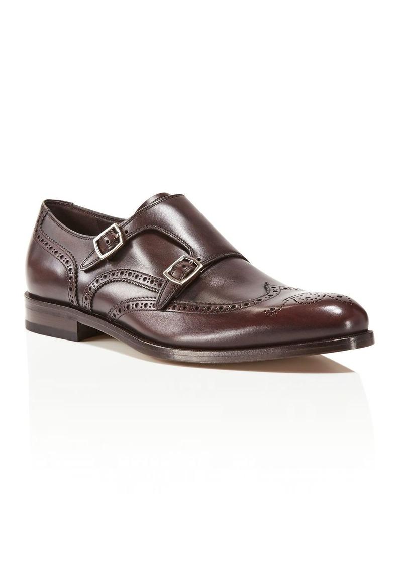 Salvatore Ferragamo Giovanni Wingtip Monk Strap Shoes