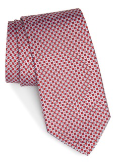 Salvatore Ferragamo Girella Print Silk Tie