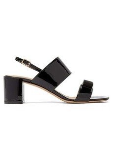 Salvatore Ferragamo Giulia bow-embellished patent-leather sandals