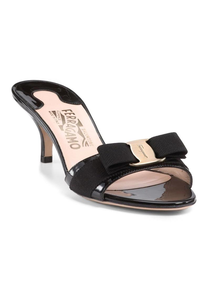 56a9fba59c SALE! Ferragamo Salvatore Ferragamo Glory Open Toe Slide Kitten Heel ...