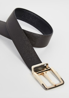 Salvatore Ferragamo Gold Buckle Reversible Belt