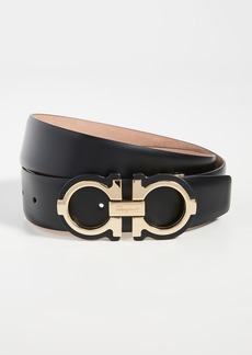 Salvatore Ferragamo Gold Double Gancio Adjustable Belt