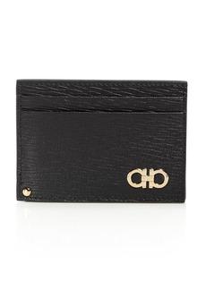Salvatore Ferragamo Gold Gancini Revival Card Case with ID
