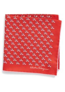 Salvatore Ferragamo Golf Print Silk Pocket Square