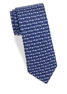 Ferragamo Graphic Floral Silk Tie