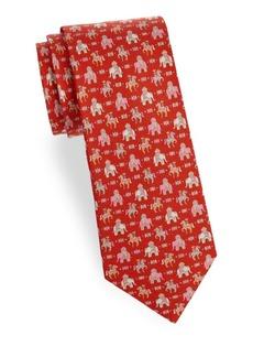 Ferragamo Graphic Silk Tie