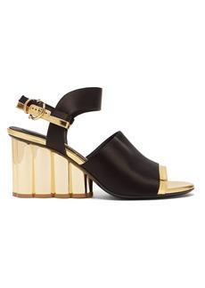 Salvatore Ferragamo Greci column heel satin sandals