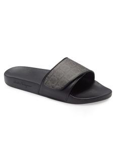 Salvatore Ferragamo Groove Slide Sandal (Men)