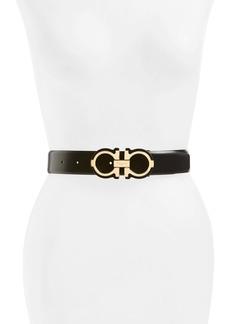 Salvatore Ferragamo Gropp Barolo Leather Belt