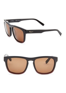 Ferragamo Havana 55MM Square Sunglasses