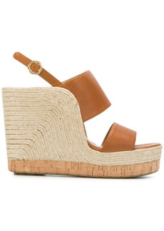 Salvatore Ferragamo high wedge sandals - Brown