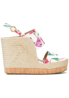 Salvatore Ferragamo high wedge sandals - White