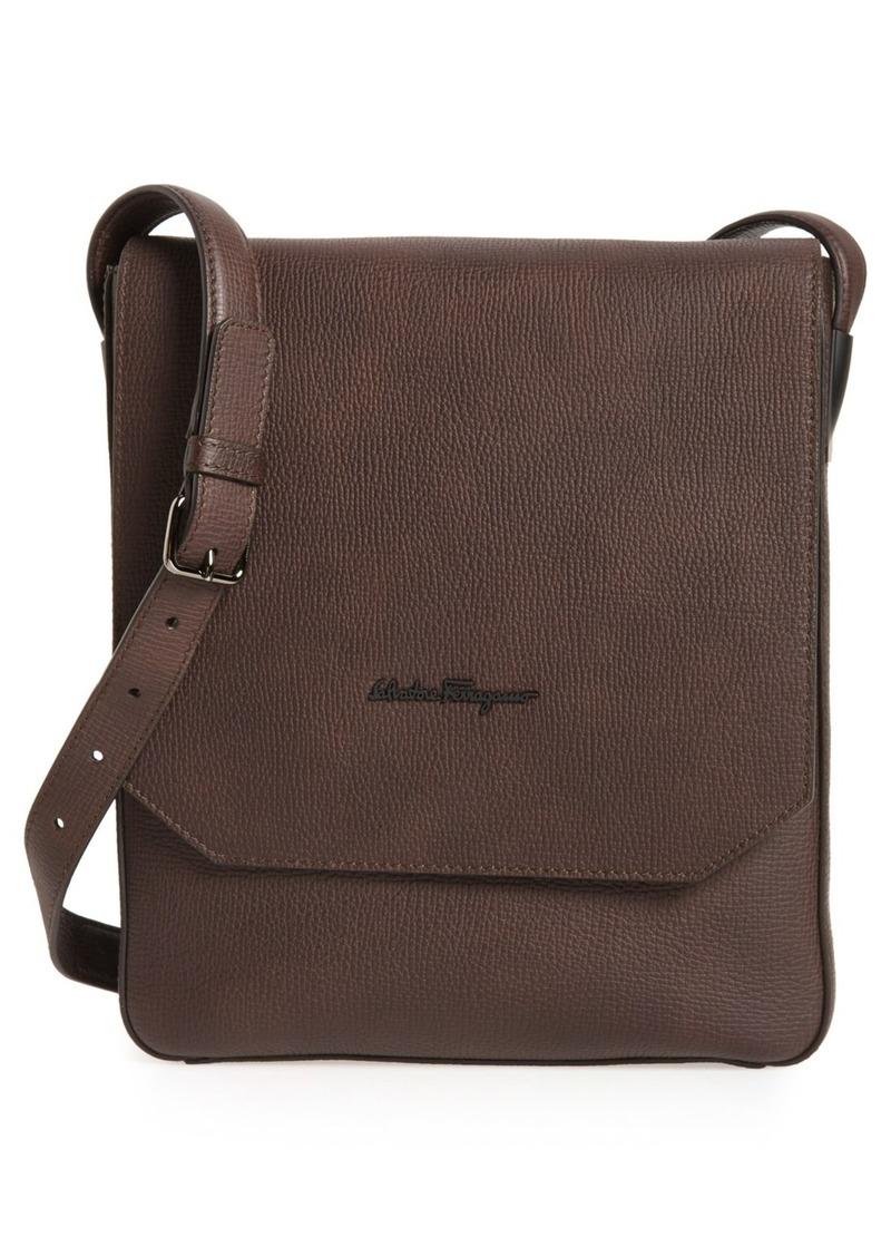 Salvatore Ferragamo Icaro Leather Messenger Bag