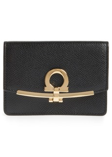 Salvatore Ferragamo Icona Leather Card Case