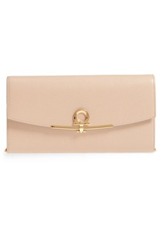 Salvatore Ferragamo Icona Leather Clutch