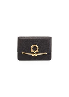 Salvatore Ferragamo Icona Saffiano Card and Key Holder