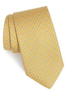 Salvatore Ferragamo Idris Print Silk Tie