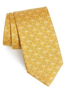 Salvatore Ferragamo Igre Print Silk Tie