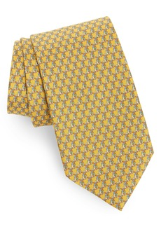 Salvatore Ferragamo Irene Duck Print Silk Tie