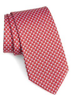 Salvatore Ferragamo Iso Mouse Print Silk Tie