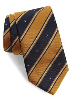Salvatore Ferragamo Italia Stripe Gancio Silk Tie