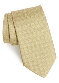 Salvatore Ferragamo Ivory Print Silk Tie