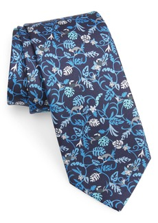 Salvatore Ferragamo Jungle Print Silk Tie