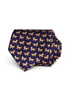 Salvatore Ferragamo King Lions Silk Classic Tie - 100% Exclusive